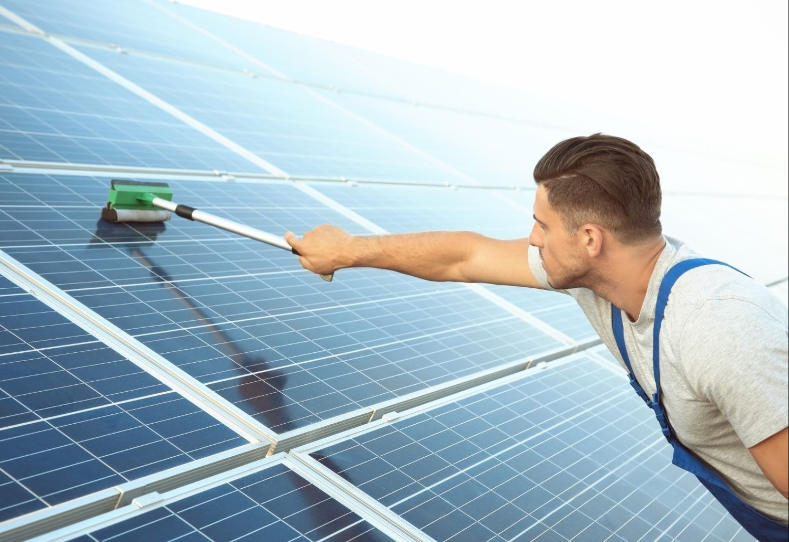 Commercial Building Washing Solar panel