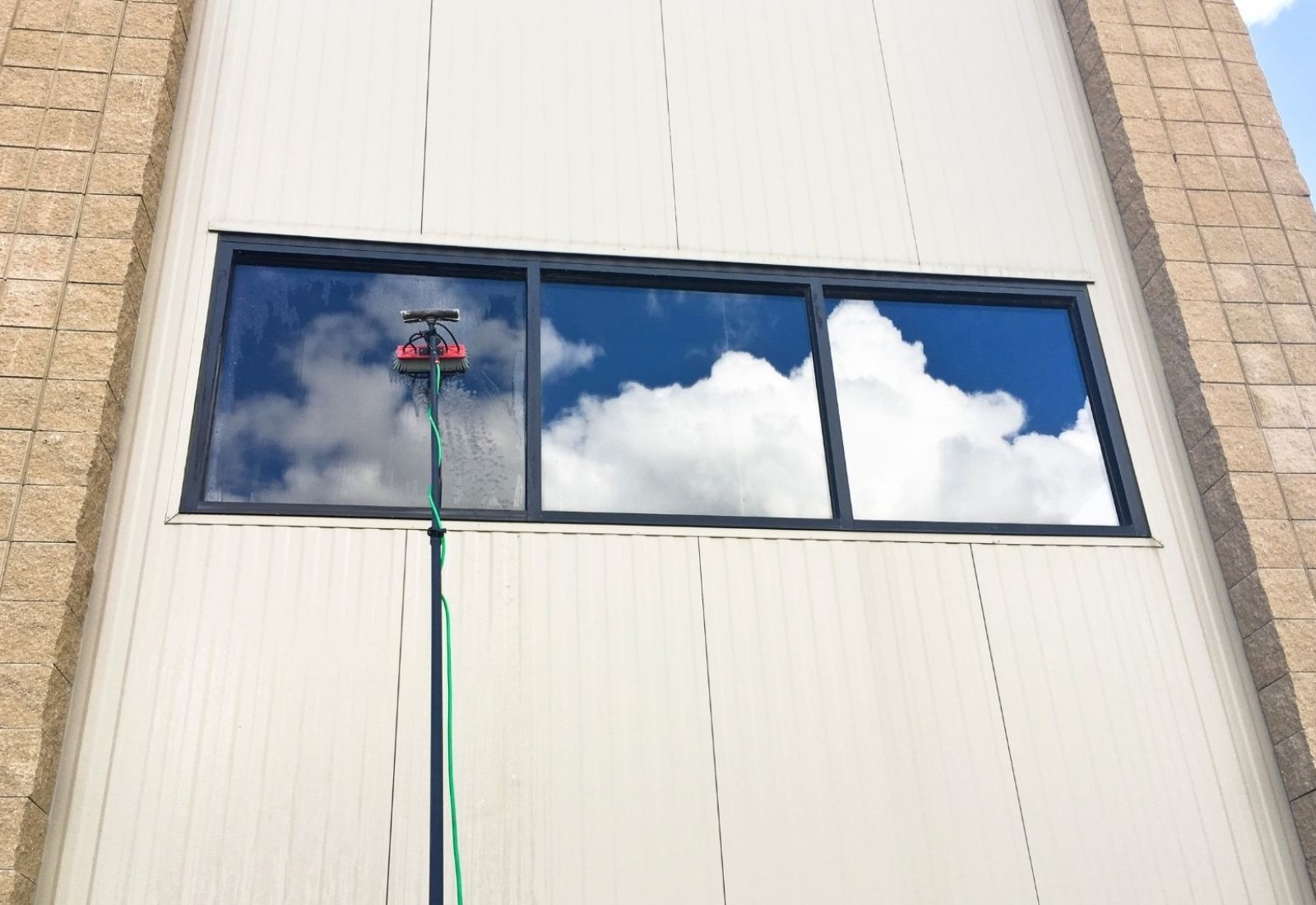 Commercial Window washing clean glass