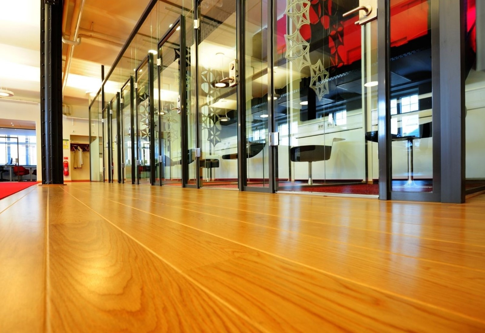 Commercial floor wooden polishing sanding polished timber hardwood