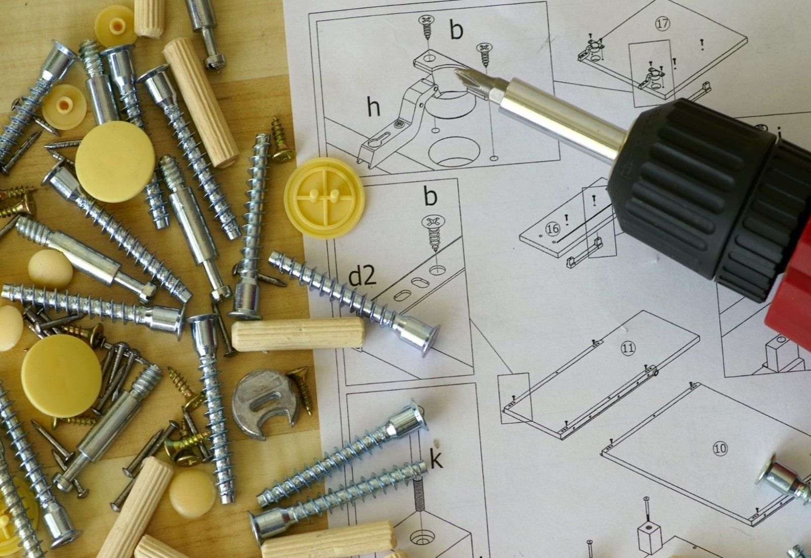 Commercial Kitset Flatpack assembly tools